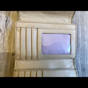 Coach Bags - Cute Signature Beige and Gold Coach Wallet